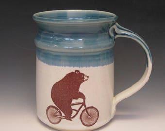 Bear on Bicycle Mug