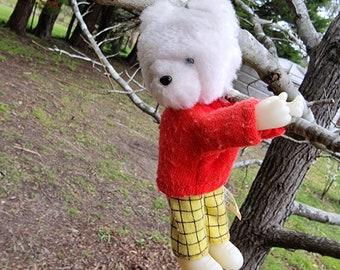Vintage ** 80s ** Rupert Bear ** Hugger ** Clip On ** Toy ** Korea
