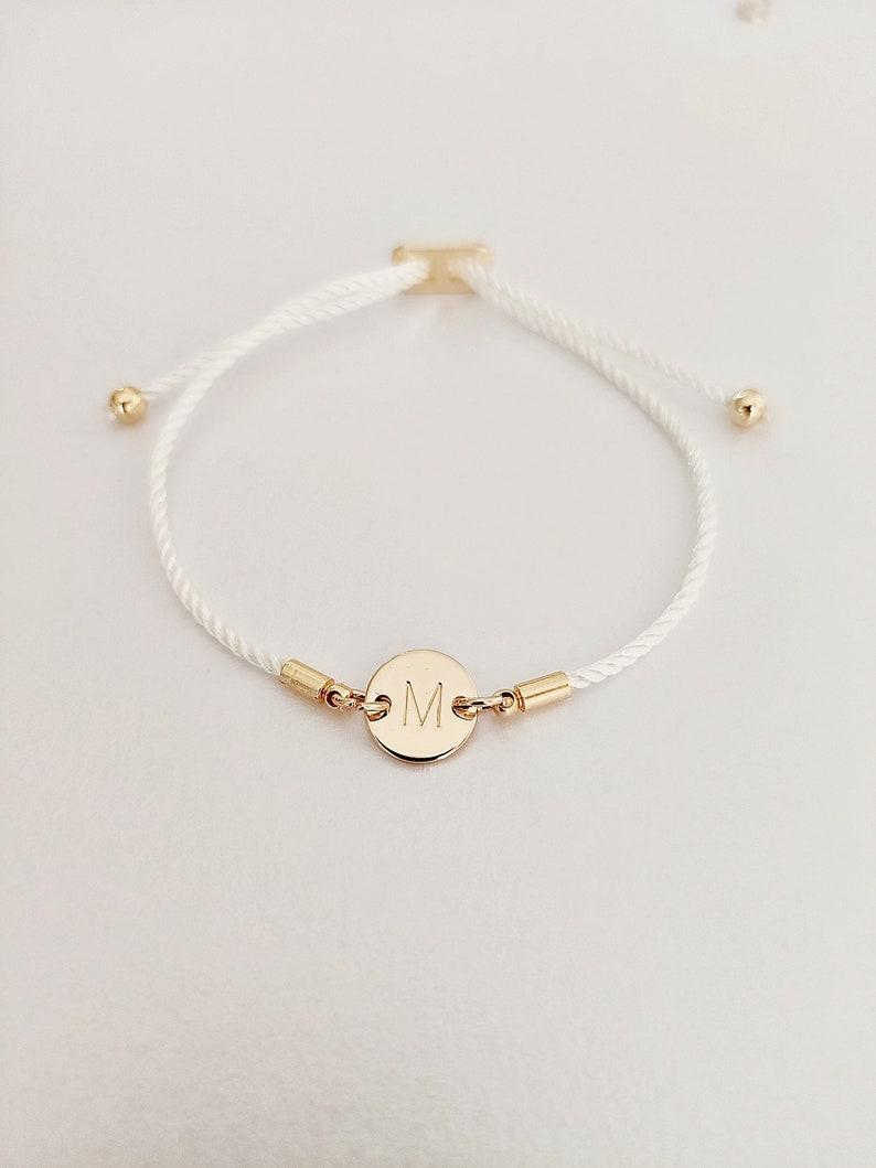 Curved Skinny Bar Personalised Message Slider Bracelet