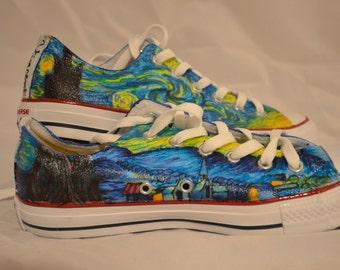 118129a9400dd9 Handmade Van Gogh Starry Night Converse