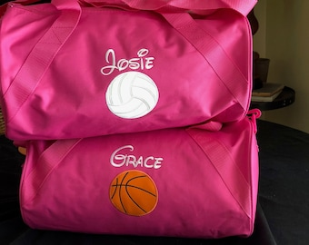 Personalized Duffle Bag Volleyball Appliqué Personalized soccer bag  Monogrammed Sports Bag Personalized kids duffle bag Soccer Bag 129b0f4cba