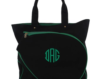 f1114ed8cd50 Monogrammed Tennis Bag Personalized Tennis Tote Bag Top Zip Closure Tennis  Tote Bag Great for a Gift Tennis mom
