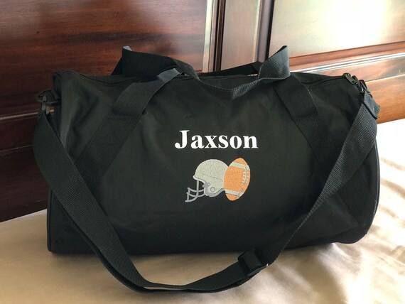 2f05ba554c Personalized Duffel Bag with Football embroidery  Football