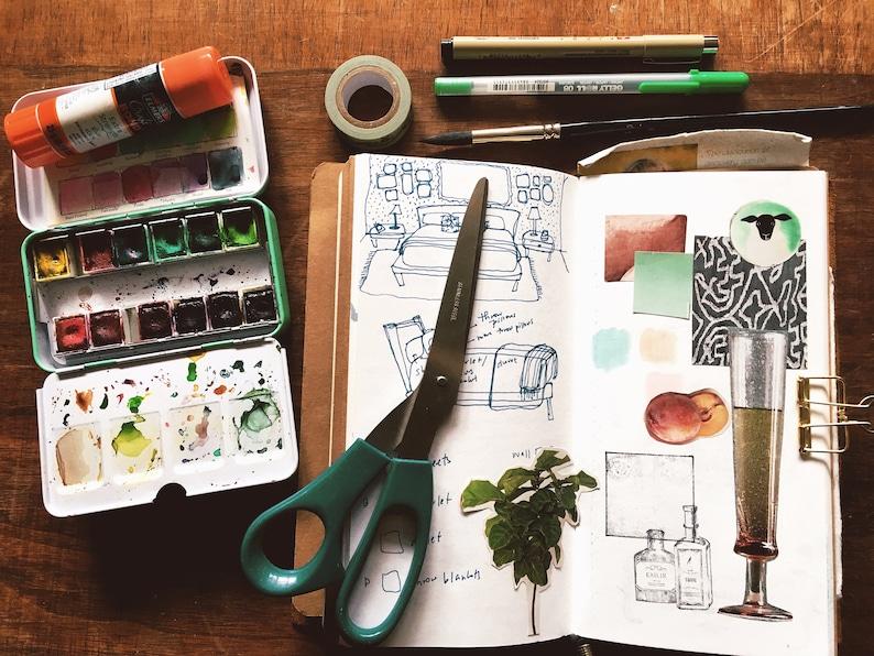 Art Journal Digital Prompts: Color Bundle image 0