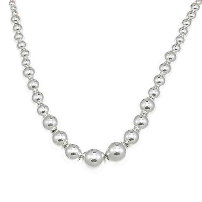 925 Sterling Silver Less-Is-More Bead necklace 16 inches