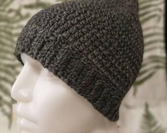 Crocheted pixie hat in merino wool, size S