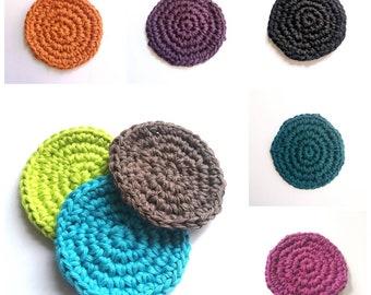 Crocheted cotton face scrubbies