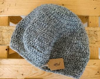 Crocheted beanie, size L