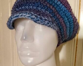 Crocheted applejack hat, size S