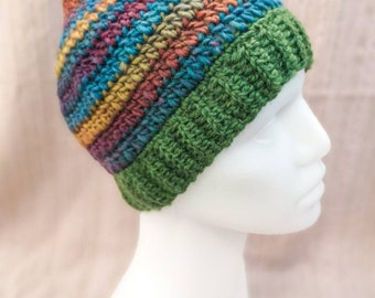 Crocheted pixie hat, size M