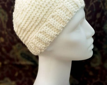 Crocheted pixie hat, size S