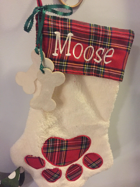 personalized dog christmas stocking dog lovers