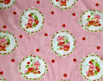 Strawberry Shortcake  cotton fabric OOP