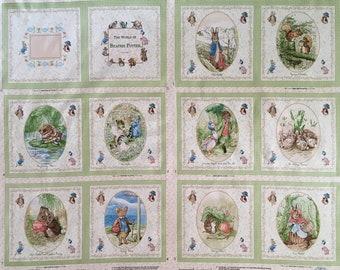 LAST! NEW! Beatrix Potter Fabric, Beatrix Potter Fabric Panel, Peter Rabbit Fabric, Peter Rabbit Panel, Beatrix Potter, Peter Rabbit