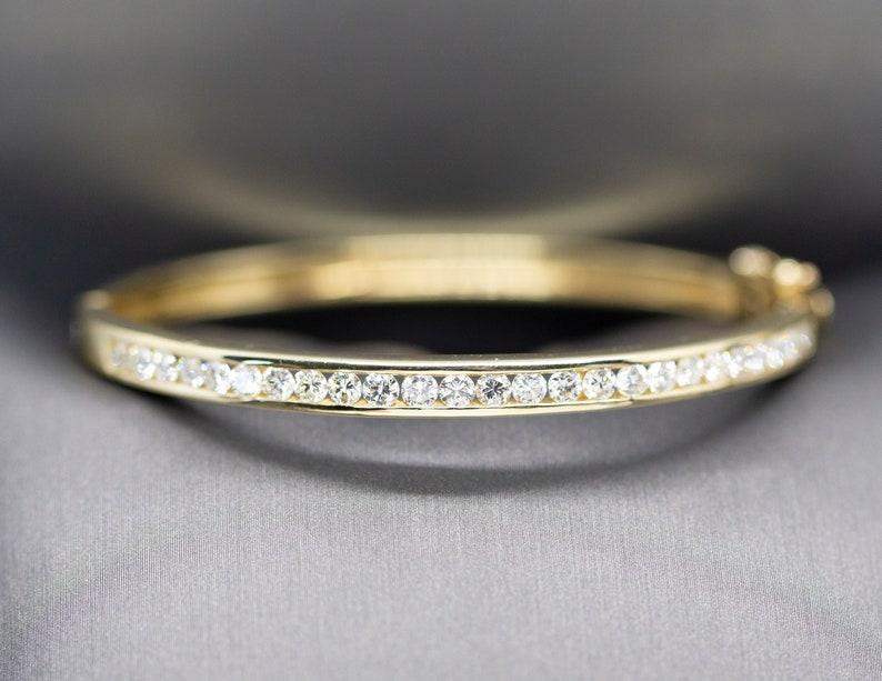076dfd99d Diamond Bangle Bracelet 14k Channel Set Diamond Bangle