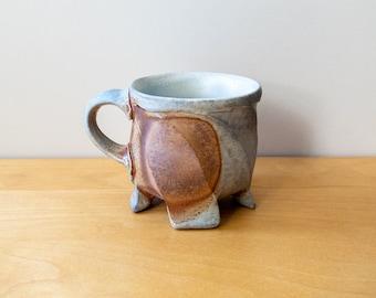 Faceted Soda Fired Mug