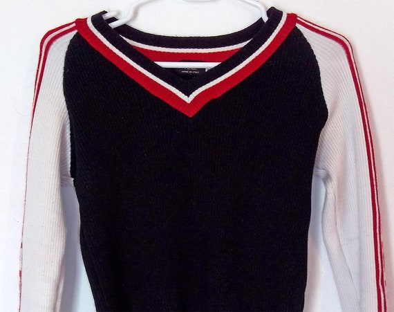 Vintage Fendi Sweater  Acrylic Black Red and White