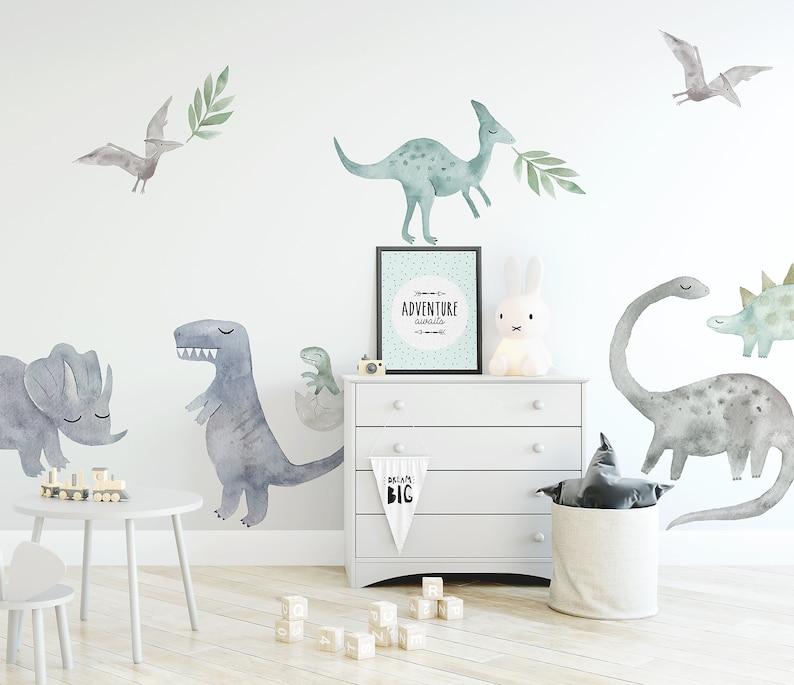 Papel de parede decoraçao quarto dinossauro adesivo de parede