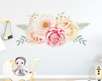 Rose Garden Floral Wall Decal