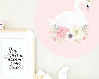 Large Swan Princess Wall Decal