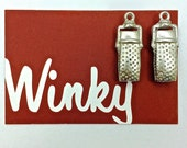 Microphone Charms Radio Pendant Unique Hard-to-Find Vintage Made in the USA by Winky Dutch 2pc