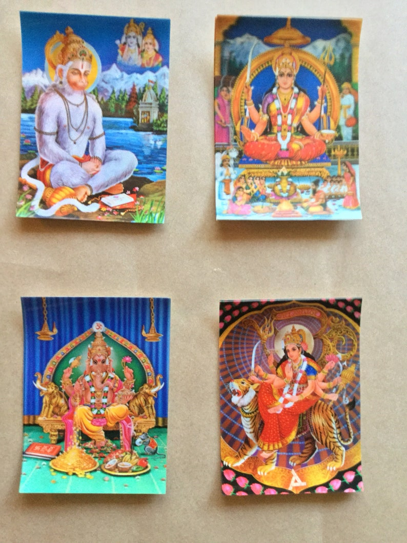 Vintage 3-D Lenticular Postcards Hindu Gods & Goddesses // Parvati //  Postcards // world religion // hindu art // Gifts // 3-d