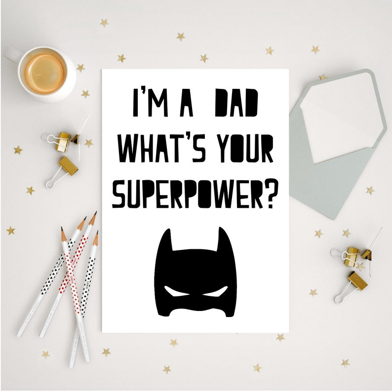 Personalised Dad Birthday Superhero Gift Gifts For