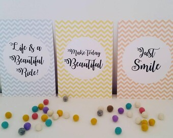 Chevron Beautiful Inspirational Quote Prints