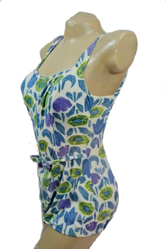 50's/60's Rose Marie Reid Tulip Print Bathing Suit - image 2