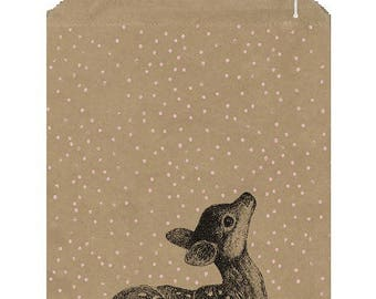 50 big kraft bags for Christmas - paper Fawn