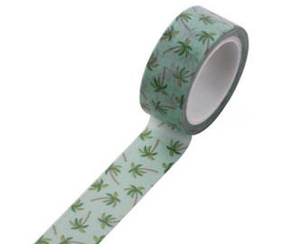 Palm tree - decorated, Scotch tape masking tape, washi tape with Palm trees