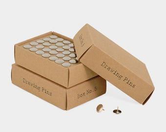 70 grey bugs in a pretty little vintage kraft box