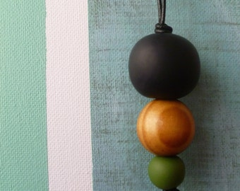 3 Color Polymer Necklace