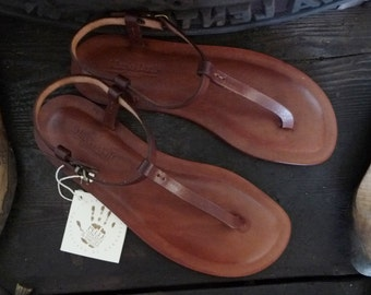 Handcrafted Sandals Women Leather and Genuine Leather Vegetable