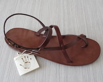 c562da399 Woman handmade sandals in Vegetable tanned Leather Mario Doni