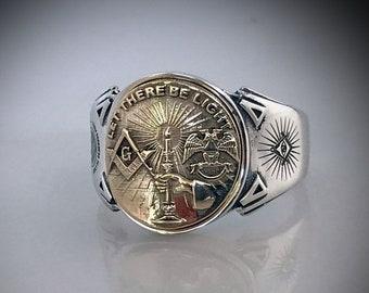 Discreet Masonic Ring