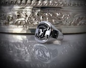 United States 101st Airborne Division Sterling Silver Ring