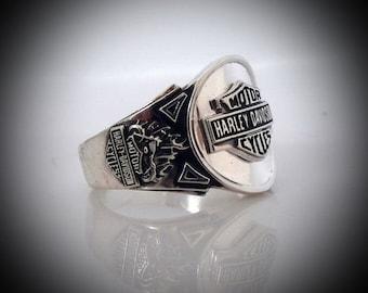 Harley Davidson Ring Etsy