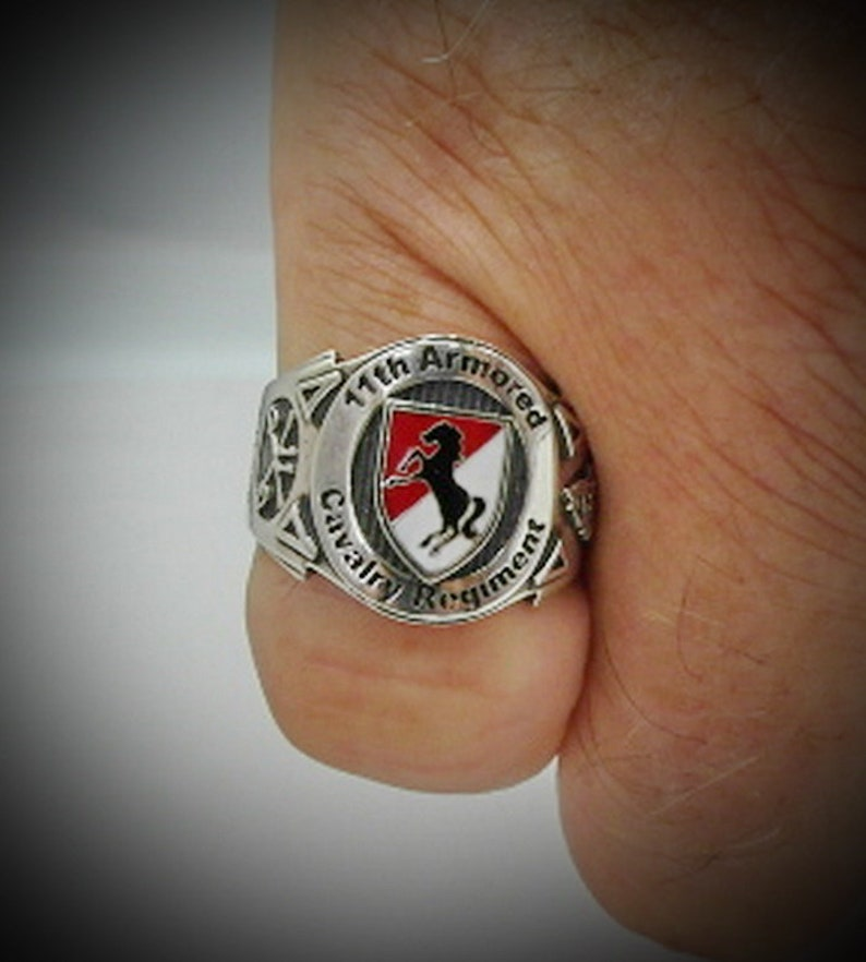 11th Armored Cavalry Cigar Band Ring