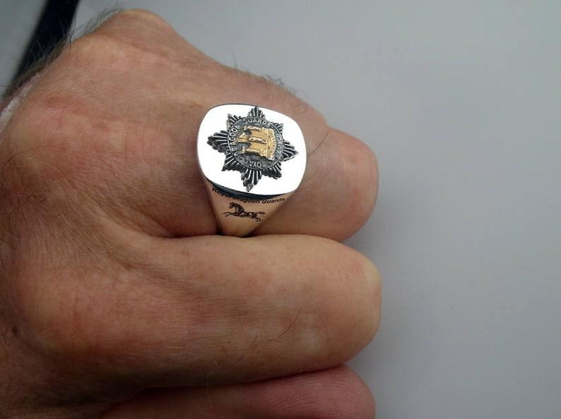 Royal Dragoon Guards Regiment Bespoke Silver Ring