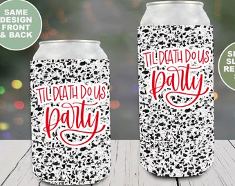Personalized Wedding Bachelorette Party Can Coolers Final Fiesta Faux Glitter Full Color Multiple Quantities Available Personalized Wedding Favors Neoprene Can Coolers