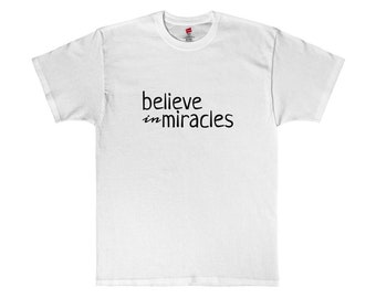 Believe in Miracles Black Graphic Tee Made in USA T-Shirt