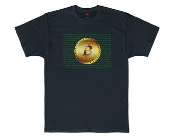 Bitcoin Numbers Graphic Tee / Blockchain Bit Coin Cryptocurrency T-Shirt