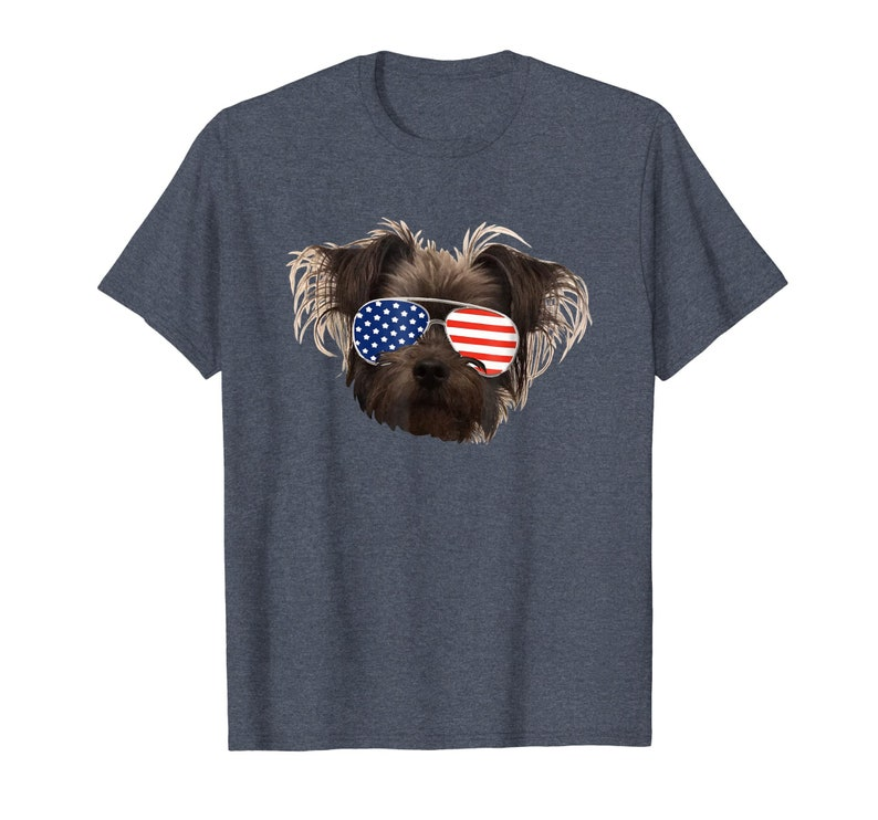a03852dfaa Brussels Griffon Shirt Funny Dog Shirt USA Flag Sunglasses