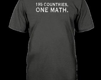 195 Countries One Math Shirt Fun Teacher Nerd Geek Gift