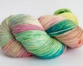 Hand Dyed, Superwash, Merino, Yarn, Stellia, Wool, Sport, Sock, 4 Ply, Sparkle