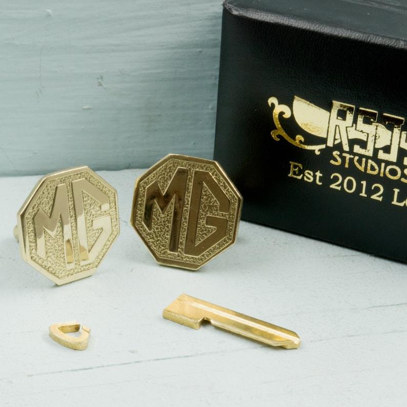 Upcycled MG Car Key Cufflinks