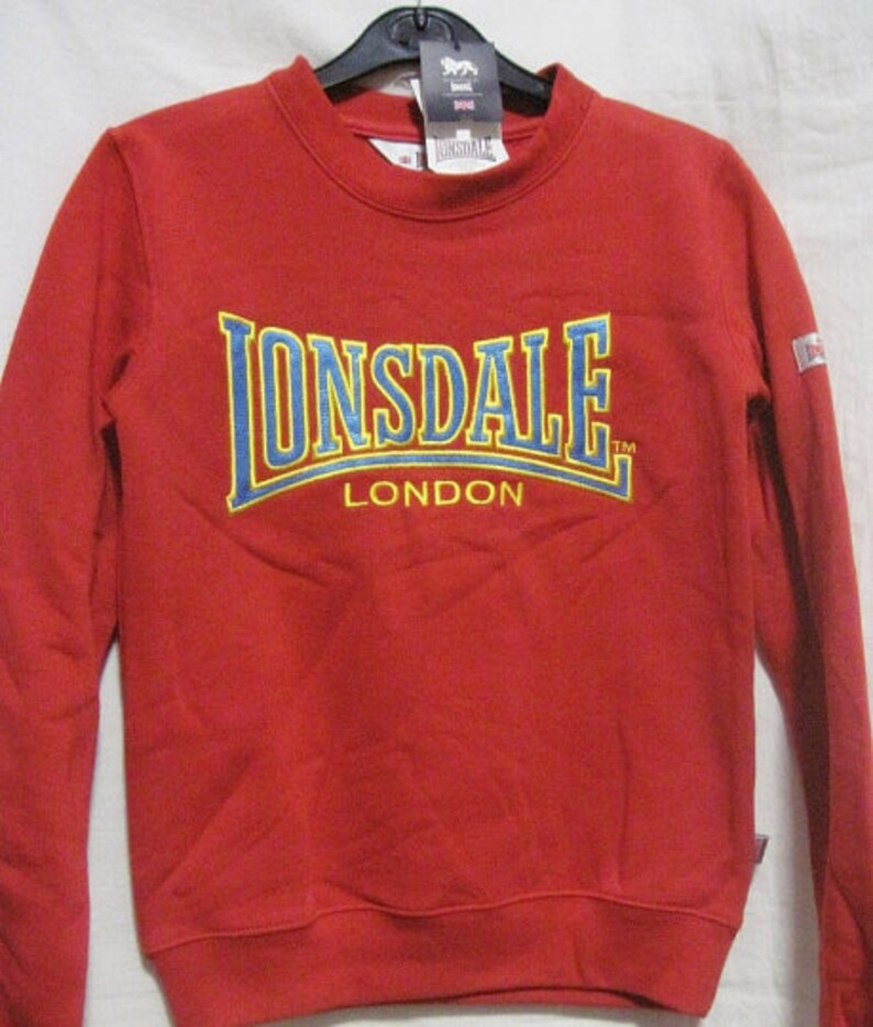 44dae42ba NEW LONSDALE clothing Punch retro vintage kid woman sweater size XS or S  official mods scooter lambretta vespa cock sparrer ben sherman