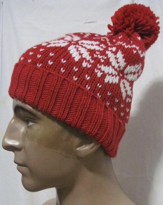 2c7fa9a23f6 MADE INFRANCE Retro vintage ski beanie red winter warm ski hat