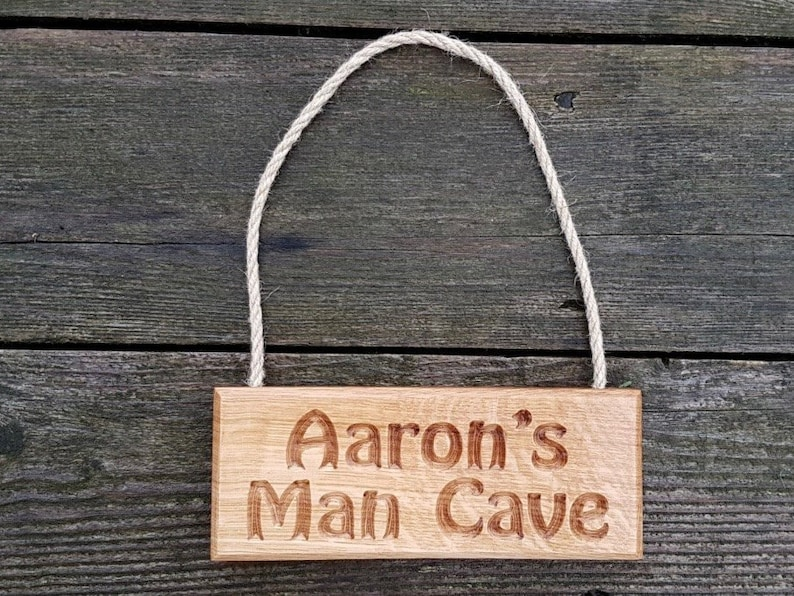 Personalised Solid Oak House Sign//Plaque Engraved Wooden House Name